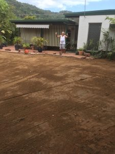 Happy Customer Landscaping by: Dingo Earthworks Cairns