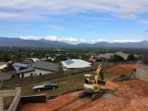 Landscaping on side of a hill - Dingo Earthworks Cairns