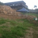 Rock Retaining wall - Dingo Earthworks Cairns